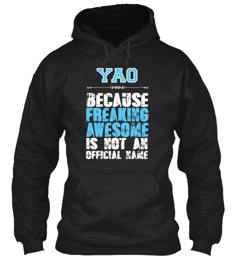 Yao Is Awesome T Shirt Black T-Shirt Front
