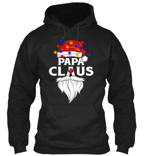 Papa Claus Black T-Shirt Front