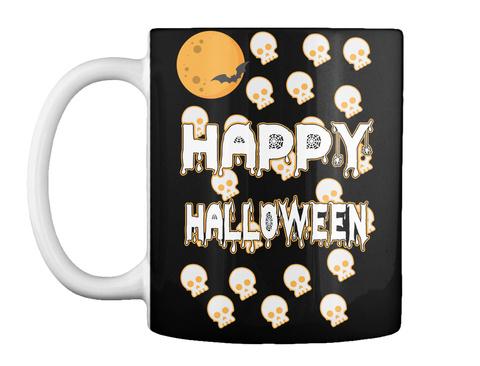 Halloween Mug Black T-Shirt Front