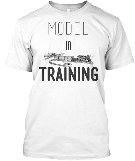 Model In Training White T-Shirt Front
