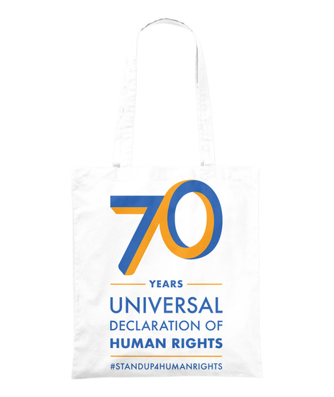 Universal Declaration Of Human Rights  White Tote Bag Front