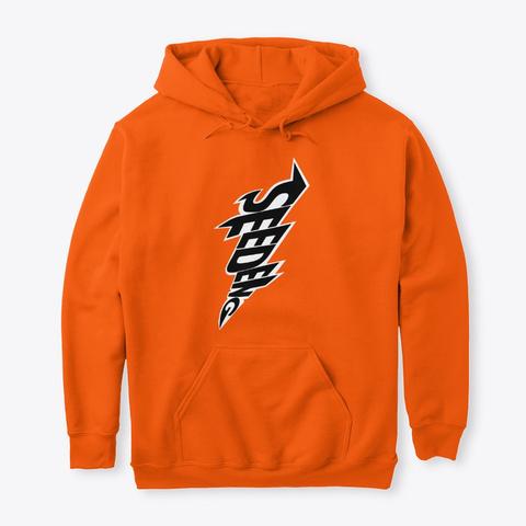 Lightning Bolt See Deng Merch Safety Orange T-Shirt Front