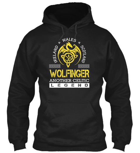Wolfinger Another Celtic Legend Black T-Shirt Front