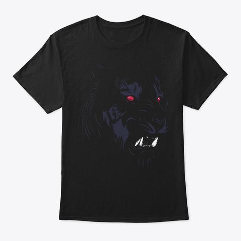 Hidden Tiger Cool Design Black T-Shirt Front