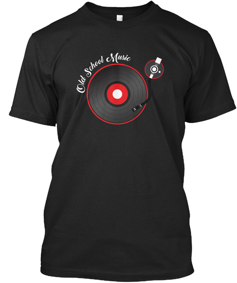 Old School Of Music Black T-Shirt Front