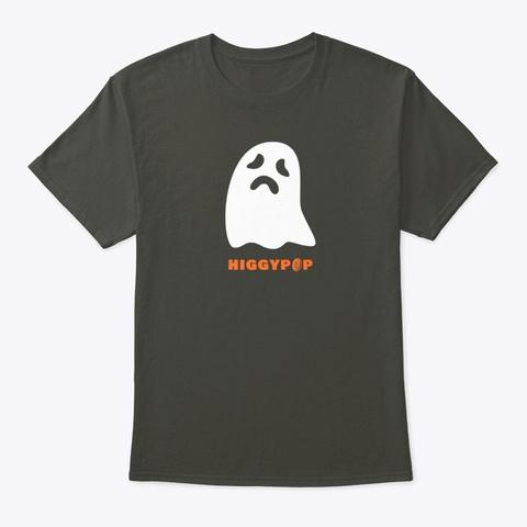 Higgypop Wailing Ghost Smoke Gray T-Shirt Front