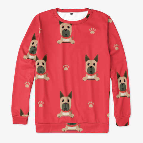 Red Cute Great Dane Sweatshirt Standard T-Shirt Front