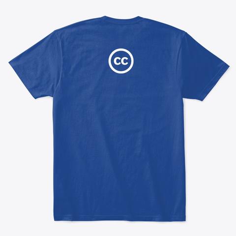 People's Republic Of Copyright T Shirt Deep Royal T-Shirt Back