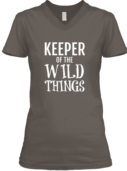 Keeper Of The Wild Things Asphalt T-Shirt Front