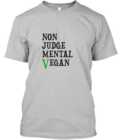 Promoting The Vegan Life Light Heather Grey  T-Shirt Front