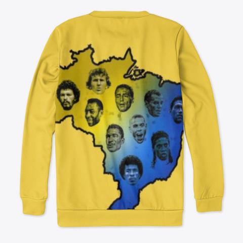 Brazil Football Yellow T-Shirt Back