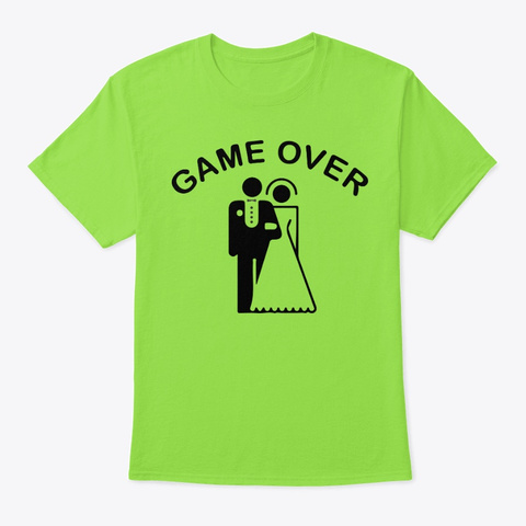 Game Over Lime T-Shirt Front