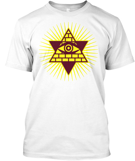 02 Eye Of God Power Hipster Geek Icon White T-Shirt Front
