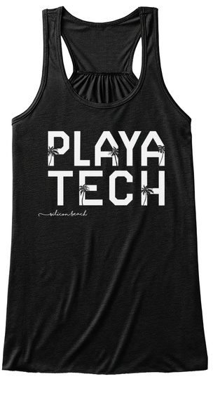 Playa Tech Silicon Beach Black T-Shirt Front