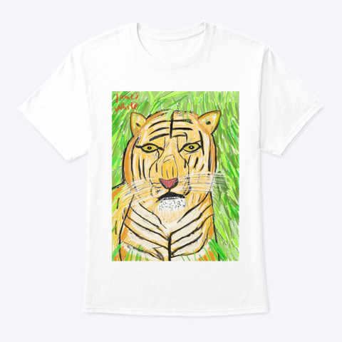 Tiger: King Of Beasts  White T-Shirt Front
