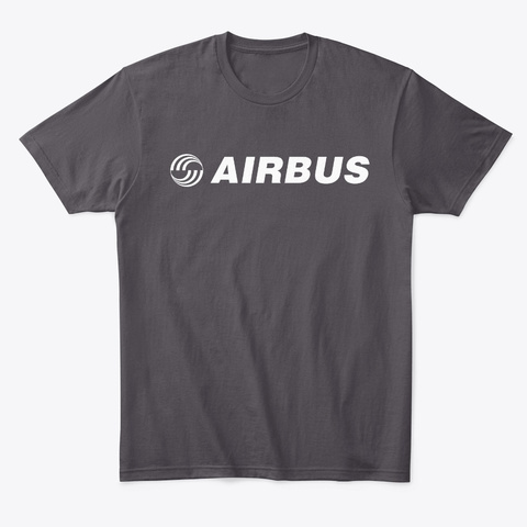 Airbus T Shirt 2 Heathered Charcoal  T-Shirt Front