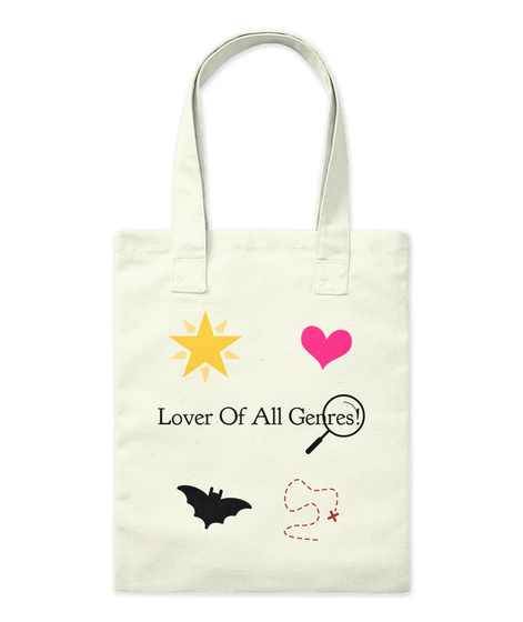 Lover Of All Genres! Natural Tote Bag Front