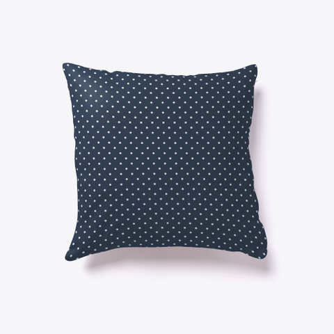 Navy Blue Mini Dots White T-Shirt Front