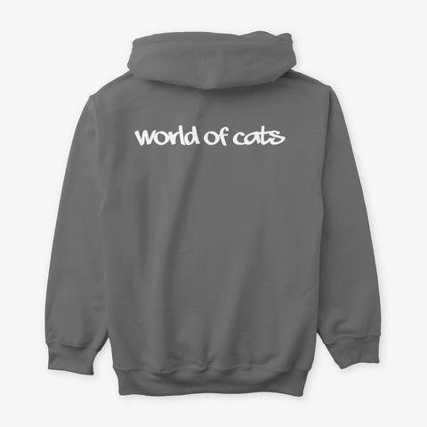 World Of Cats 1 Dark Heather T-Shirt Back