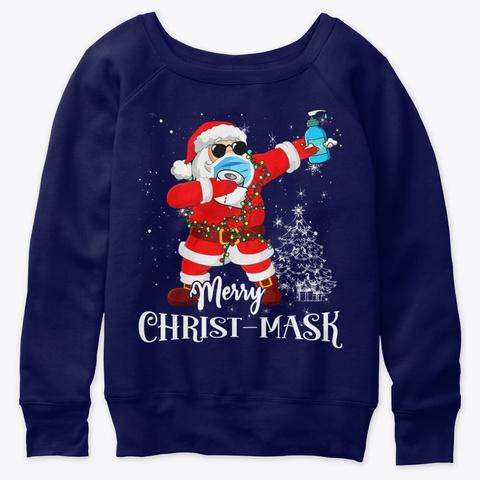 Christmas 2020 Santa Dabbing Funny Shirt Navy  T-Shirt Front