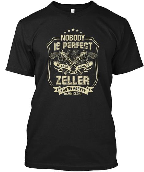 Zeller  Nobody Is Perfect Black T-Shirt Front