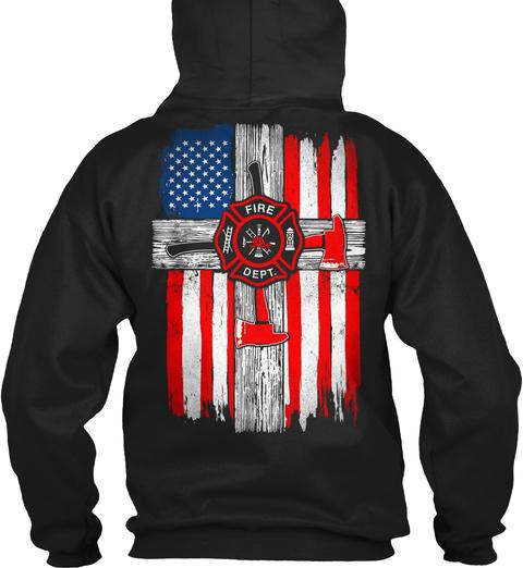 Fire Dept. Black Sweatshirt Back