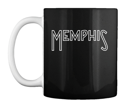 Memphis Mug Black Mug Front