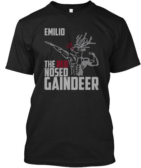 Emilio Gaindeer Black T-Shirt Front