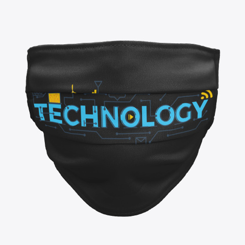 Awesome Technology Face Masks Black T-Shirt Front