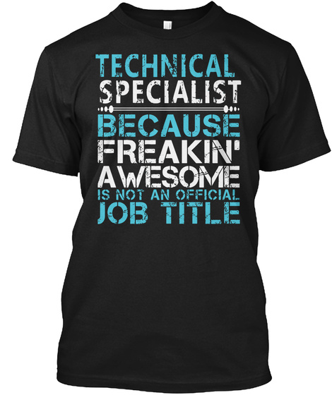 Technical Specialist Black T-Shirt Front