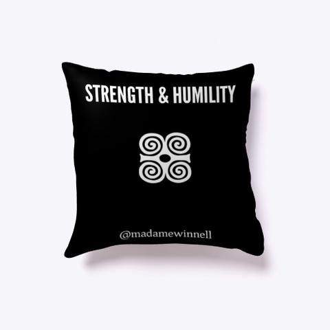 Strong Af Pillow Black T-Shirt Back