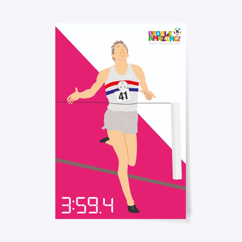 Roger Bannister – R  Amazing Poster Standard T-Shirt Front