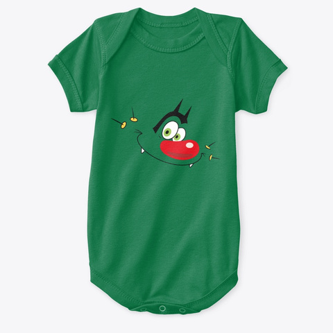 Oggy Classic  Kelly Green T-Shirt Front