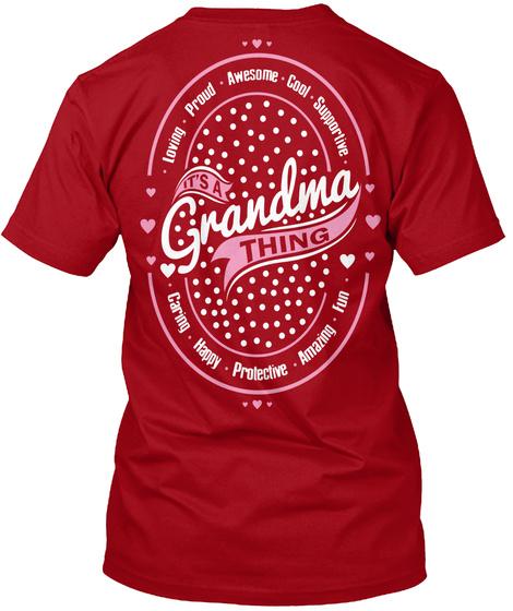 Its A Grandma Thing Deep Red T-Shirt Back