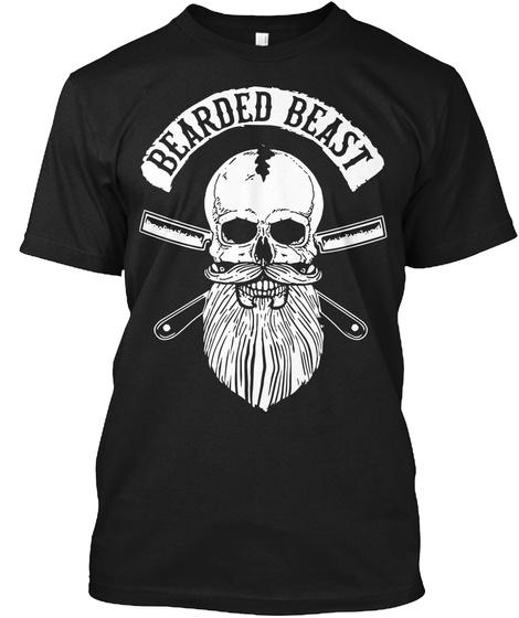 Bearded Beast Black T-Shirt Front
