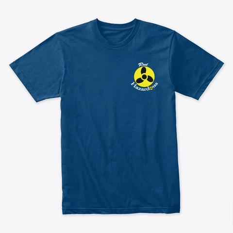 Reel Hazardous Classic Logo Cool Blue T-Shirt Front