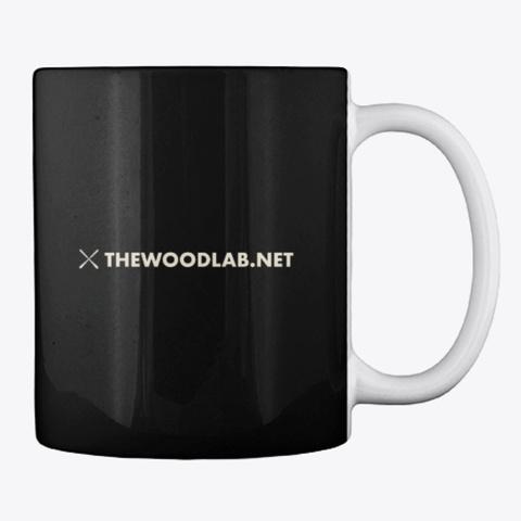 The Wood Lab Coffee Mug Black T-Shirt Back