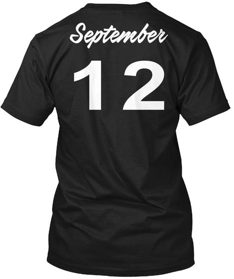 September 12   Virgo Black T-Shirt Back