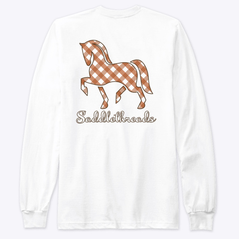 Fall Collection   Plaid White T-Shirt Back