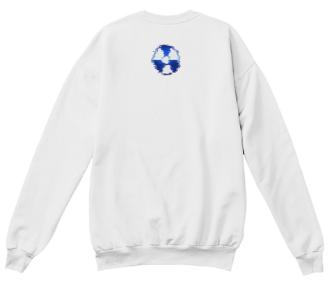 Sold Out Digital Art Sweater White  T-Shirt Back
