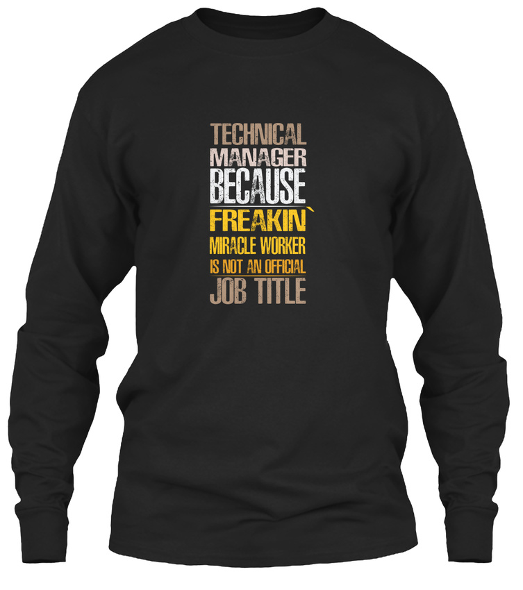 Details about Long-lasting Technical Manager Gildan Long Sleeve Gildan Long  Sleeve Tee T-Shirt