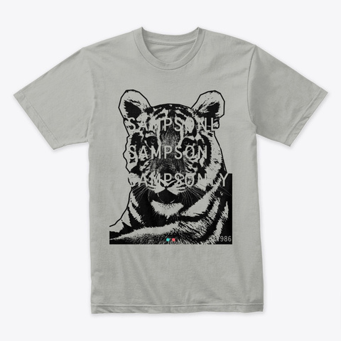 '86 Tiger Ii By Sampsonly Light Grey T-Shirt Front