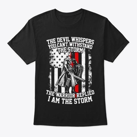 Warrior Black T-Shirt Front