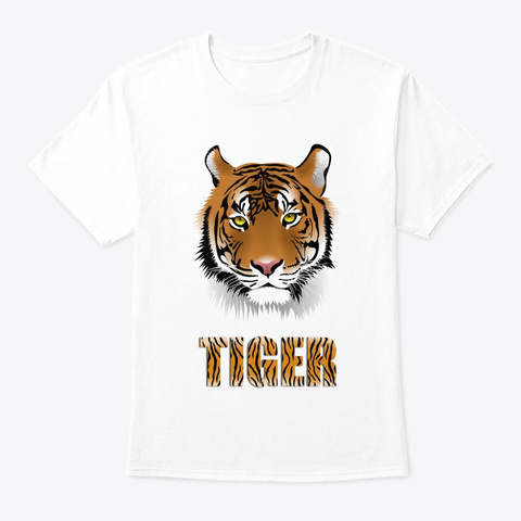 Tiger T Shirts White T-Shirt Front