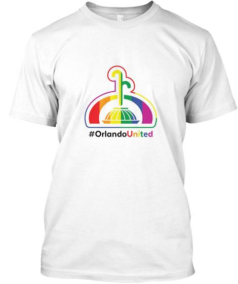 #Orlando United White T-Shirt Front