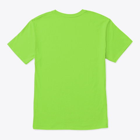Derp Critter   Silly Cute Lime T-Shirt Back