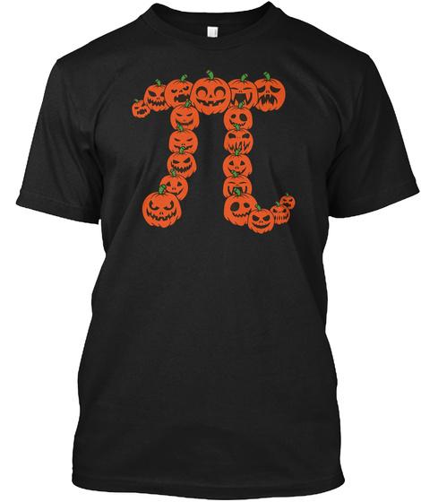 Pumpkin Pi   Funny Math Shirt Black T-Shirt Front