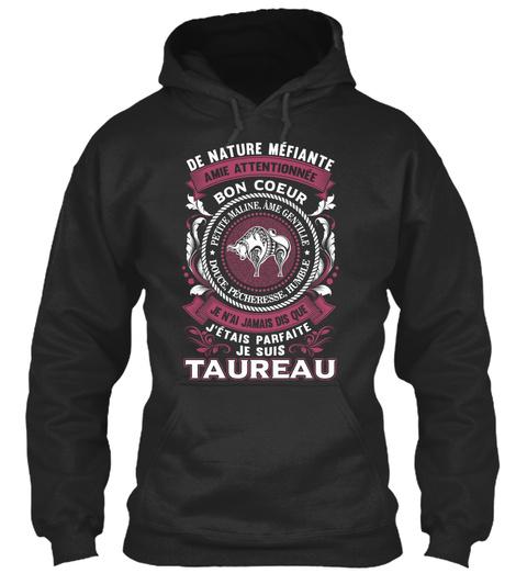 Fr 012 Taureau T Shirt, Tasses... Jet Black T-Shirt Front