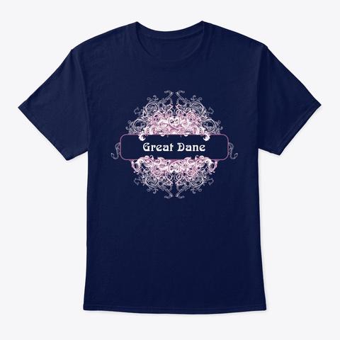 Great Dane Vintage Tee   Hoodie Navy T-Shirt Front
