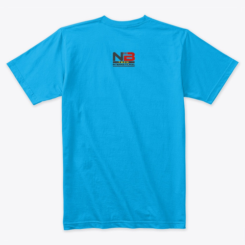 Free Energy Generator Of Noman Shah Turquoise T-Shirt Back